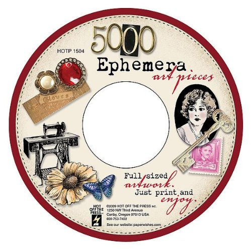 Hot Off The Press Ephemera Art CD: 5,000 Art