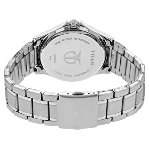 Titan Men's 'Neo' Quartz Metal and Brass Casual Watch, Color Silver-Toned (Model: 1698SM01)