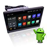 YODY 10.1 Inch Single Din Android 8.1 Car Stereo HD Capacitive Touch Screen Car Radio Audio Support Bluetooth WiFi GPS Navigation Mirror Link (NO DVD)