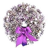 彩か SAIKA リース S 紫 パープル インテリア 玄関飾り エレガンス CXO-112S Purple pine & Ribbon Wreath S purple