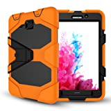 Samsung Galaxy Tab A 7.0 Case(SM-T280),Slim Heavy Duty Shockproof Rugged Case High Impact Resistant Defender Full Body Protective Cover with Screen Protector (Color: orange)