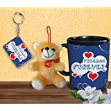 Gift For Friend & Friendship Day Gift Set Of Coffee Mug Keychain And Teddy Design 5