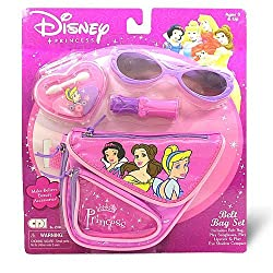 Disney Princess Belt Bag Set Includes Play Lipstick, Bag, Sunglasses & Play Eye Shadow Compact