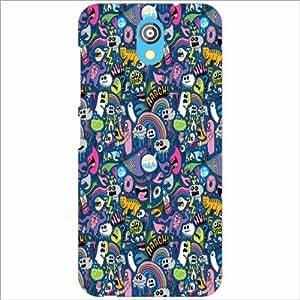 Design Worlds - HTC Desire 526G Designer Back Cover Case - Multicolor Phone...