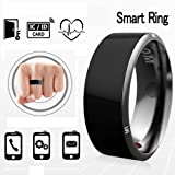 Efanr R3 Smart Ring, Waterproof Dust-proof Fall-proof Wearable Magic App Enabled Rings for NFC Enabled Mobile Cell Phones Android Smartphones (Size 11) (Tamaño: Size 11)