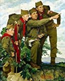 Norman Rockwell Boy Scout Pointing The Way Art Print - 8 in x 10 in - Unmatted, Unframed