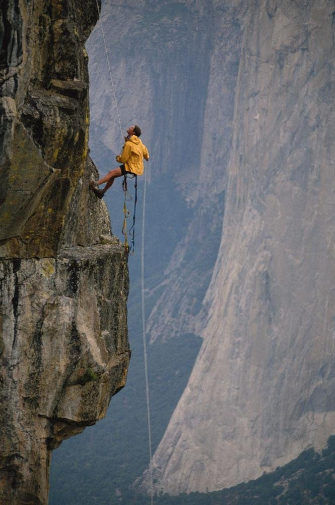 Rappeling Down a Cliff