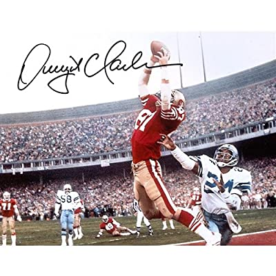 Dwight Clark Autographed San Francisco 49ers (The Catch) 8x10 Photo