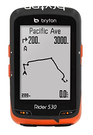 Bryton Rider 530 C - GPS - orange/noir 2016 gps couleur