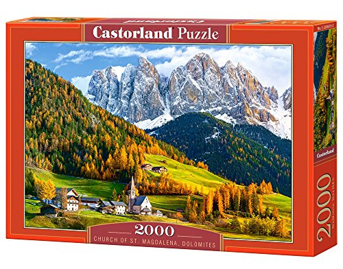 castorland-c-200610-2-puzzle-church-of-stmagdalena-dolomites-2000-teile