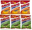 David Jumbo Sunflower Seeds 5.25 oz Variety Bundle Pack (Pack of 6), 3 Bags of David Sunflower Seeds Chili Lime Flavor + 3 Bags of David Sunflower Seeds Jalapeno Hot Salsa Flavor