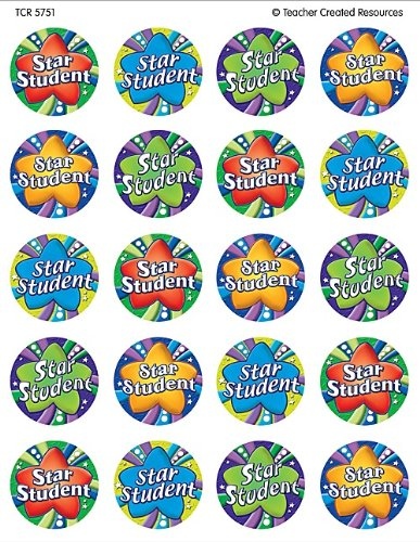 Teacher Created Resources Star Student Stickers, Multi Color (5751)