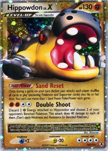 Pokemon Platinum Rising Rivals #107 Hippodon Lv.X Ultra Rare Card [Toy]