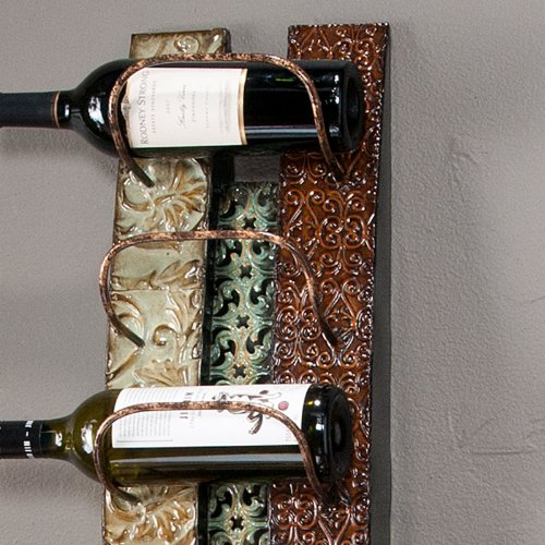 Southern Enterprises Adriano 6 Bottle Wall Mount Metal Wine Rack