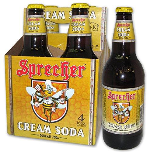 Sprecher Gourmet Cream Soda, 16 oz, 4 count, 64 Fl oz, (Pack of 6) (Sprecher Soda compare prices)