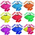 Ladies Girls NEON TUTU SKIRT LEGWARMERS GLOVES 5 piece set