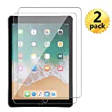 [2 Pack] New iPad 9.7inch (2018 & 2017)/ iPad Pro 9.7/ iPad Air 1(iPad 5th Gen)/ iPad Air 2(iPad 6th Gen)/ Screen Protector Tempered Glass Film Gen5 Gen6 5 6 Generation Model A1822 A1823 A1893 A1954 (Color: Transparent)