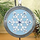 Snowflake Ornament on Snowflake Ornament Stand - Grandmas Are Like Snowflakes Sent From Above Is Engraved on the Front of Ornament - Grandma Gift, Great Grandma Gift, New Grandma Gift, Mother-in-law Gift, Gifts for Her