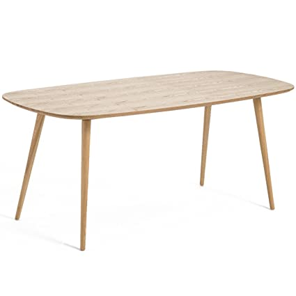 Table à manger design scandinave YLEVA frêne 180 cm x 90 cm