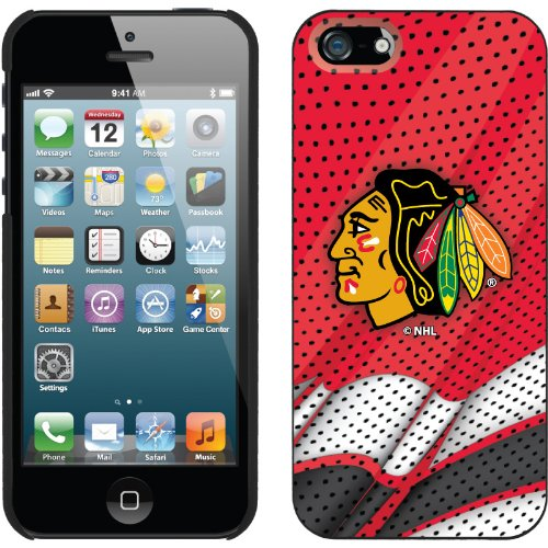 Best Price Chicago Blackhawks« - Home Jersey design on a Black iPhone 5s / 5 Thinshield Snap-On Case by Coveroo