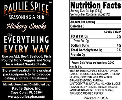 Paulie Spice : Sweet Hickory Smoke BBQ Rub and Spicy Hot Cajun Seasoning Combo Set (2 Flavors) : Amazing on Ribs, Pork, Wings, Meat, Chicken, Prime Rib, Steak, Fish and Seafood : 8 oz