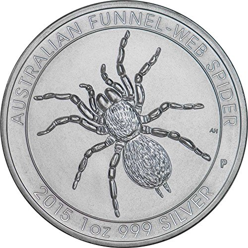 2015 Perth Mint Australian Funnel-Web Spider $1 Brilliant Uncirculated