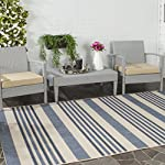 Safavieh Courtyard Collection CYL7062-233A Beige and Blue Indoor/ Outdoor Area Rug (5 x 8)