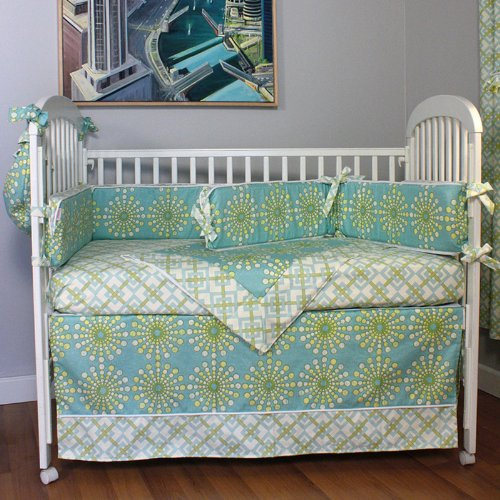 Trend Hoohobbers Burst Seagrass Piece Crib Bedding Set