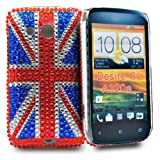 Union jack diomand hard cover case for Htc Desire C