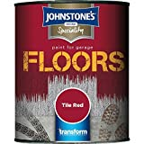 Johnstones Specialty Paint For Garage Floors Tile Red 750ml