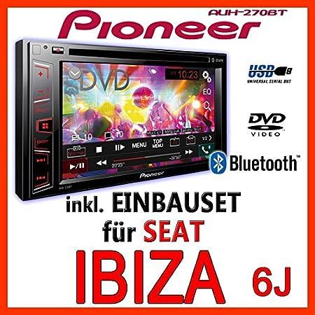 Seat ibiza 6J-gris clair-pioneer aVH - 270BT 2-dIN pour autoradio multimédia avec bluetooth
