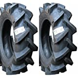 TWO New 6-14 BKT Deep Lug R-1 Tires & Tubes Compact 4wd Farm Tractors 4Ply Rated