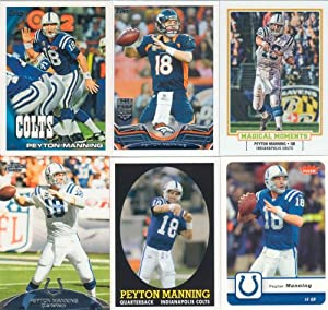Peyton Manning 6 Card Gift Lot Containing One Each of His 2013 Topps, 2010 Topps,... by Peyton Manning Gift Lot