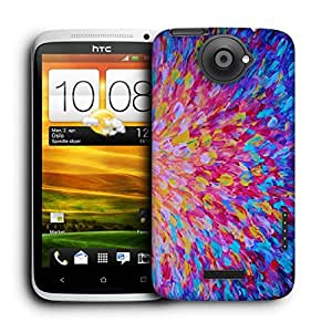 Snoogg Abstractcolorful Pattern Designer Protective Back Case Cover For HTC ONE X