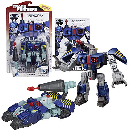 """Hasbro Year 2013 Transformers Generations """"Thrilling 30"""" Series Deluxe Class 4-1/2 Inch Tall Robot Action Figure #015 - Vehicon TANKOR with Cannon Missile Launcher and 1 Missile (Vehicle Mode: Cybertronian Tank)"""