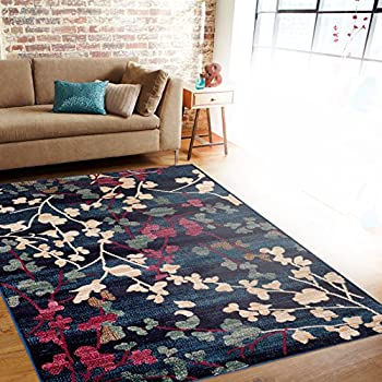 Rugshop Contemporary Floral Soft Area Rug, 53