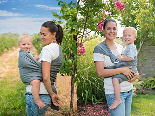 HaulA-Baby-4-in-1-Baby-Wrap-Ring-Sling-Maternity-Belt-Belly-Binder-Slate