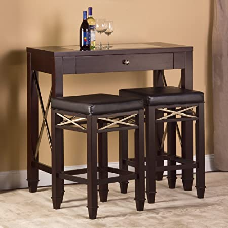 Hillsdale La Vista 3-Piece Wine Table Set in Espresso