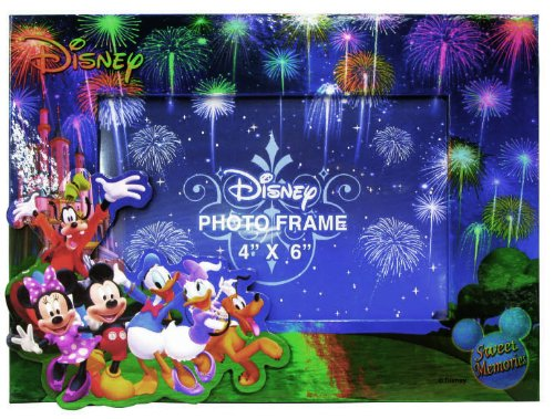 Disney Mickey and Gang Blue Fireworks Picture Frame (Disney Picture Frames compare prices)
