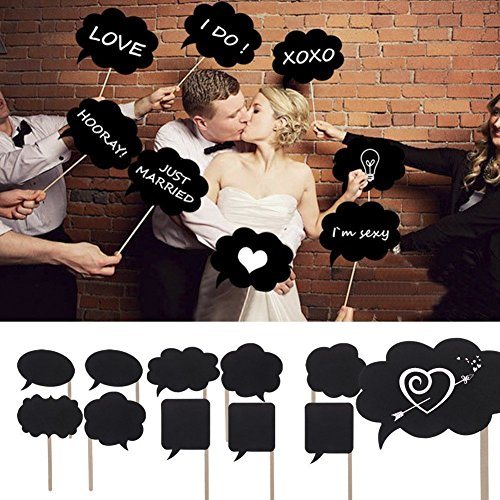 New 10pcs Wedding ideas Photo Mini Chalkboard Signs With Skewers Mini Blackboards Photography Props Wedding Party Decorations