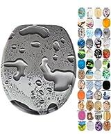Abattant WC - Grande sélection - Finition de haute qualité - Charnières robustes - Facile fixation (Dewdrop)