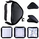 24x24 Flash Portable Collapsible Softbox Kit for Camera Photography Studio Flash fit Bowens Elinchrom Mount