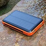 (Black Friday) ALLPOWERS™ Solar Panel Charger 10000mAh 3.5A Dual-Port Portable Charger Backup External Battery Power Bank Pack with PowerIQ™ and Fast Charging Technology for iPhone 6 plus 5S 5C 5 4S 4, iPad Air, Other iPads, iPods, Samsung Galaxy S4, S3, S2, Note 3, Note 2, Most Kinds of Android Smart Phones and Tablets, Gopro Camera and More Other Devices (ORANGE)