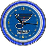 NHL St. Louis Blues Neon Clock - 14 inch Diameter