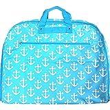 Anchor Print Garment Bag Travel Luggage