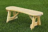 "Pressure Treated Pine 42"" Curved Seat Bench Amish Made USA- Unfinished"