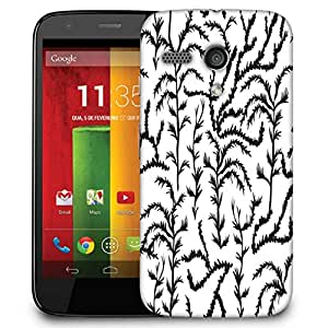 Snoogg Black Trees Designer Protective Phone Back Case Cover For Motorola G / Moto G
