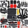 Erligpowht Common Outdoor Sports Bundle Kit for sj4000/sj5000 cameras and GoPro Hero 4/3+/3/2/1 Cameras in Parachuting Swimming Rowing Surfing Skiing Climbing Running Bike Riding Camping Diving Outing Any Other Outdoor Sports