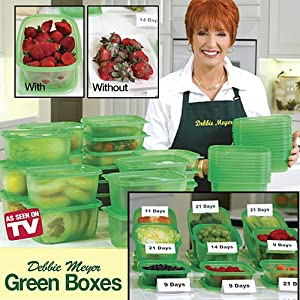 As Seen on TV Debbie Meyer Green Boxes- Food Storage Containers