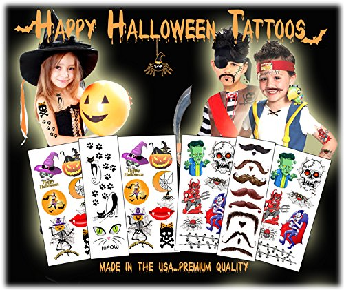 Halloween-Temporary-Tattoos-Made-in-the-USA-Over-40-Tattoos
